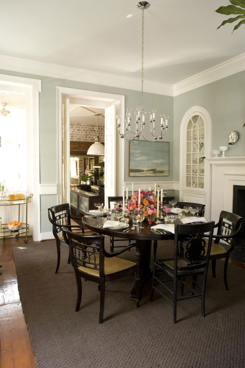 Charleston Home Dining Room: Mix and Match Your Chairs