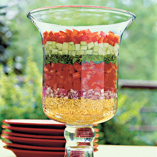 Healthy Food Recipe: Layered Lebanese Salad