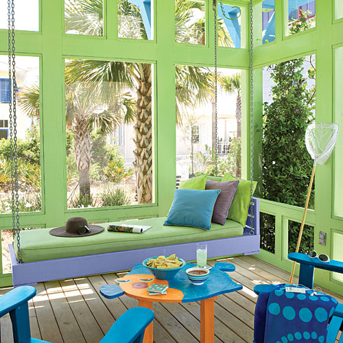 Beach Home Decorating: Be Bold