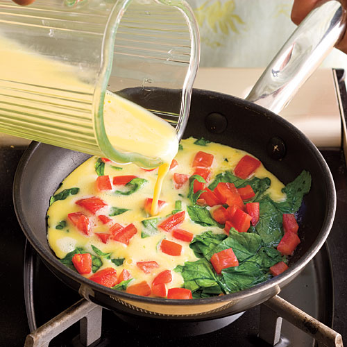 How to Make Omelets Recipes: Step 1: Blend and Pour