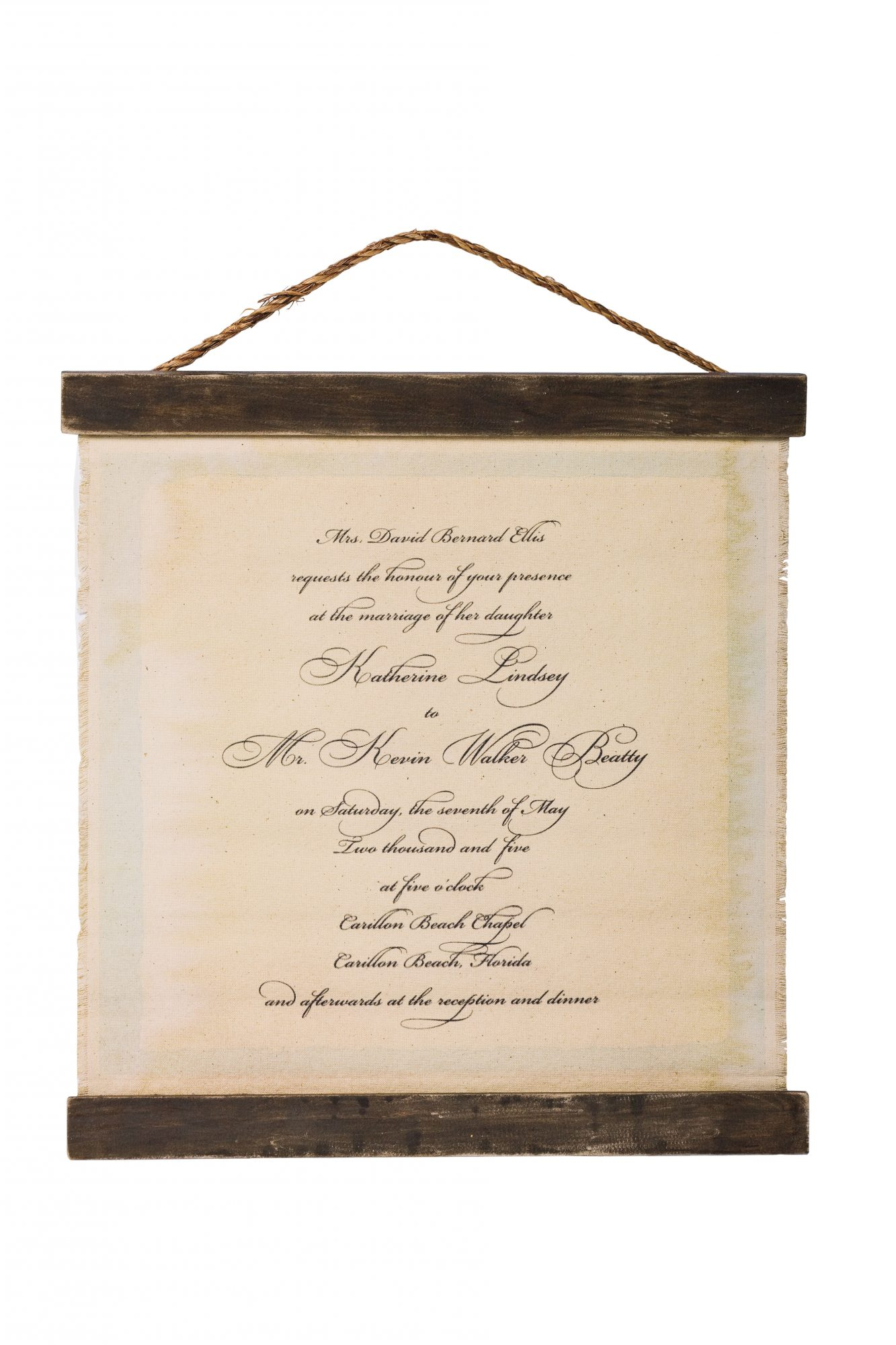 Custom Wedding Invitation Chart