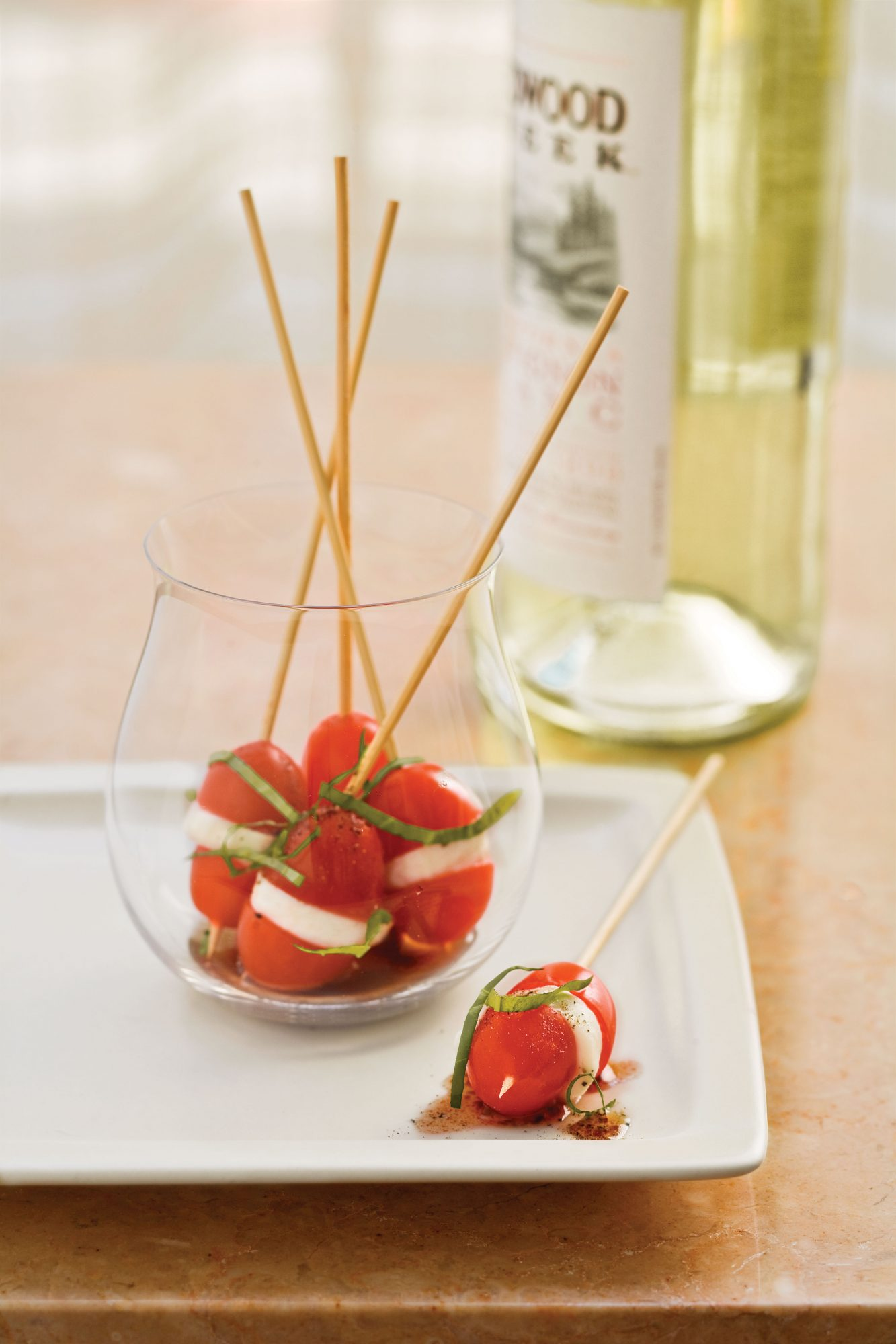 Golden Globe Appetizers Mini Caprese Bites
