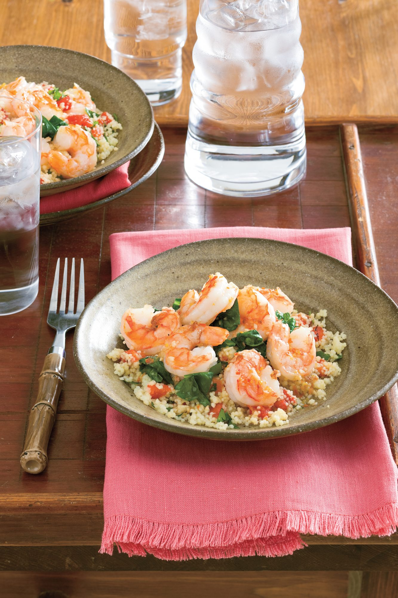 Easy, Healthy Seafood Recipes: Lemony Shrimp and Spinach