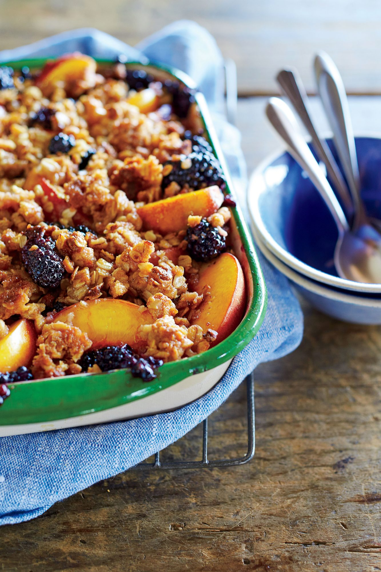 Peach-and-Blackberry Crisp Recipe