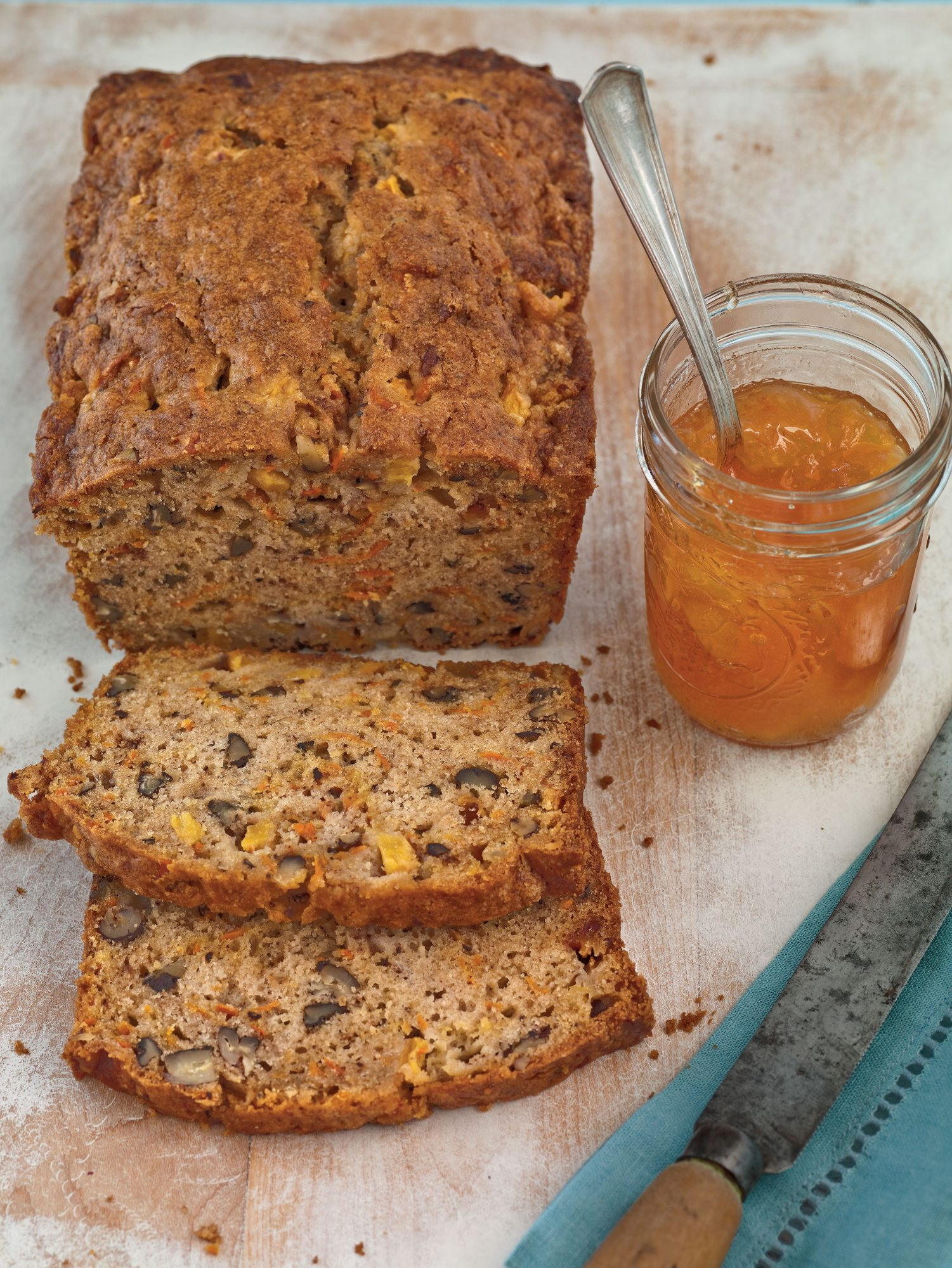 Spiced Peach-Carrot Bread
