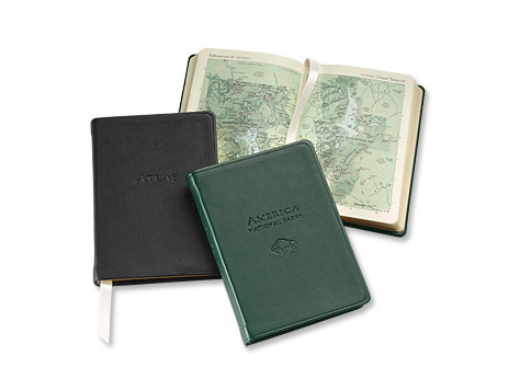 Personalized Leather-Bound Atlas