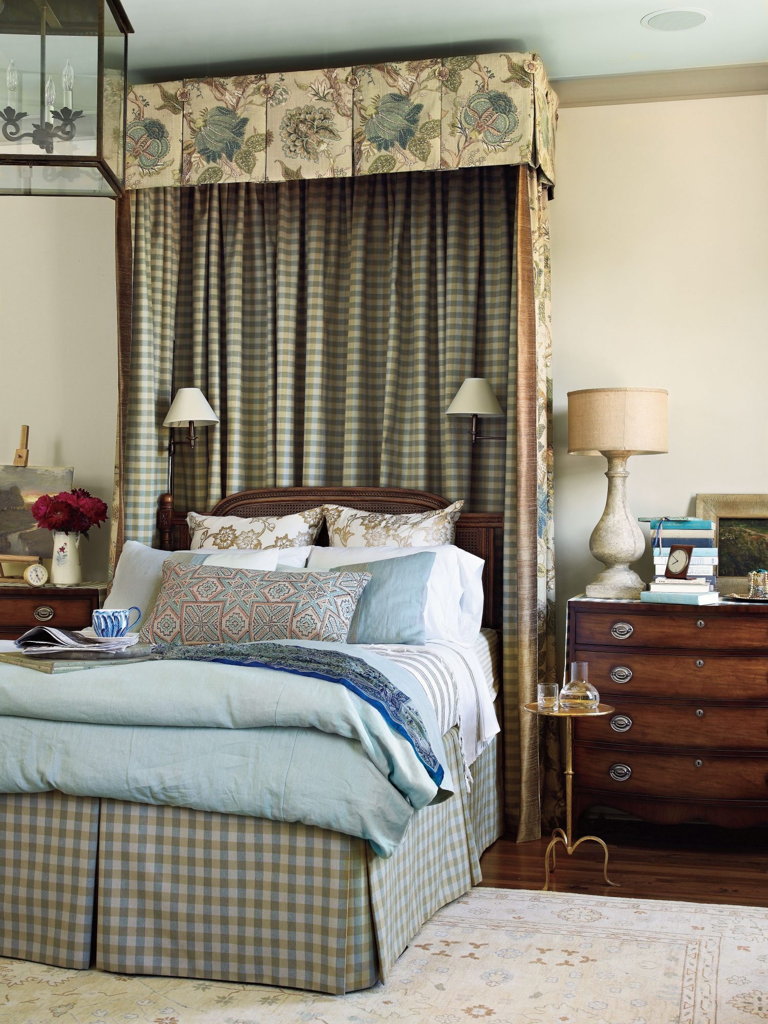Traditional Blue Bedroom