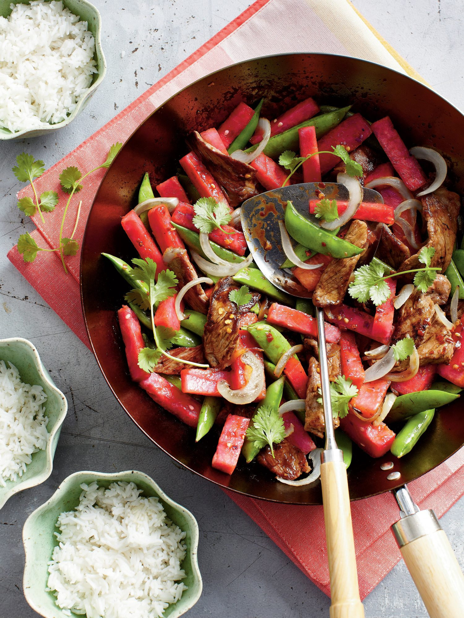 Beef-and-Watermelon Stir-Fry