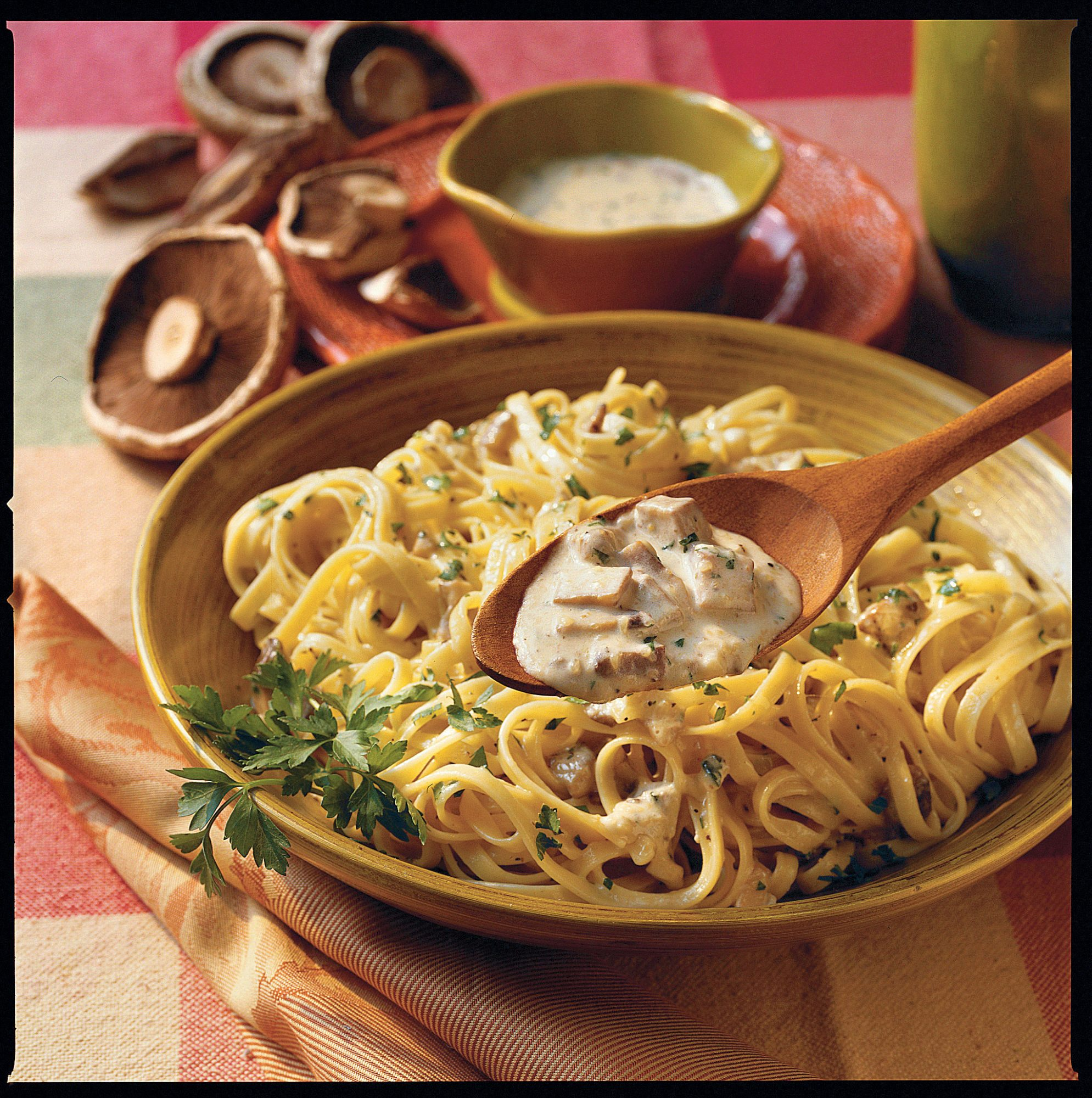 Top-Rated Main Dishes: Fettuccine With Portobello-Alfredo Sauce