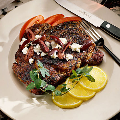 Quick and Easy Dinner Recipes: Grecian Skillet Rib Eyes