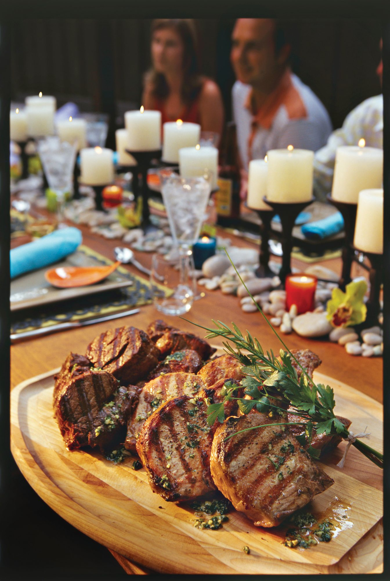 Top-Rated Main Dishes: Mixed Grill with Cilantro Pesto