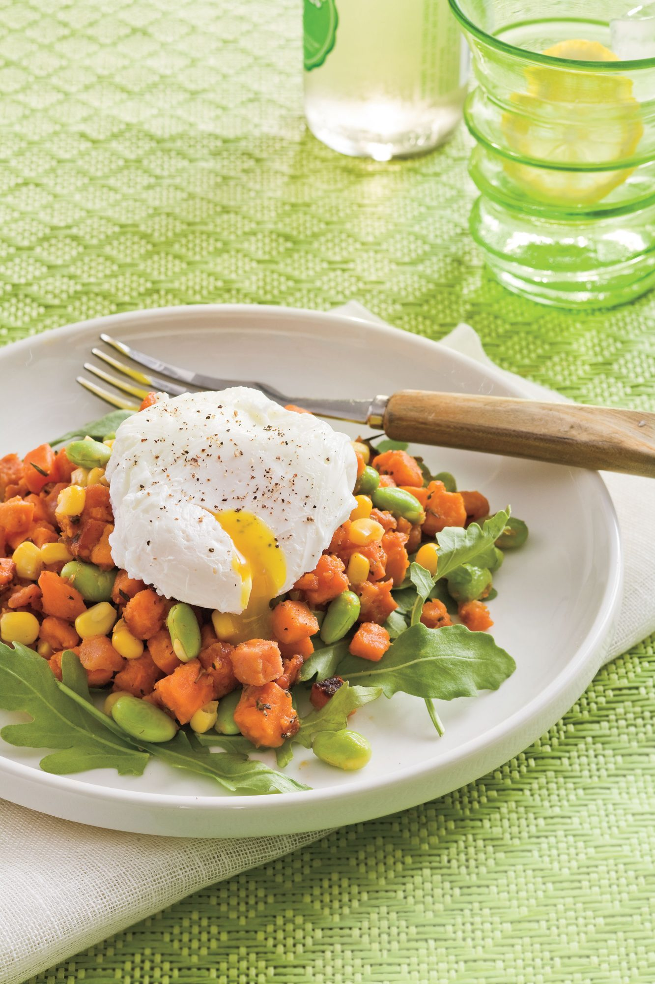 Sweet Potato and Edamame Hash