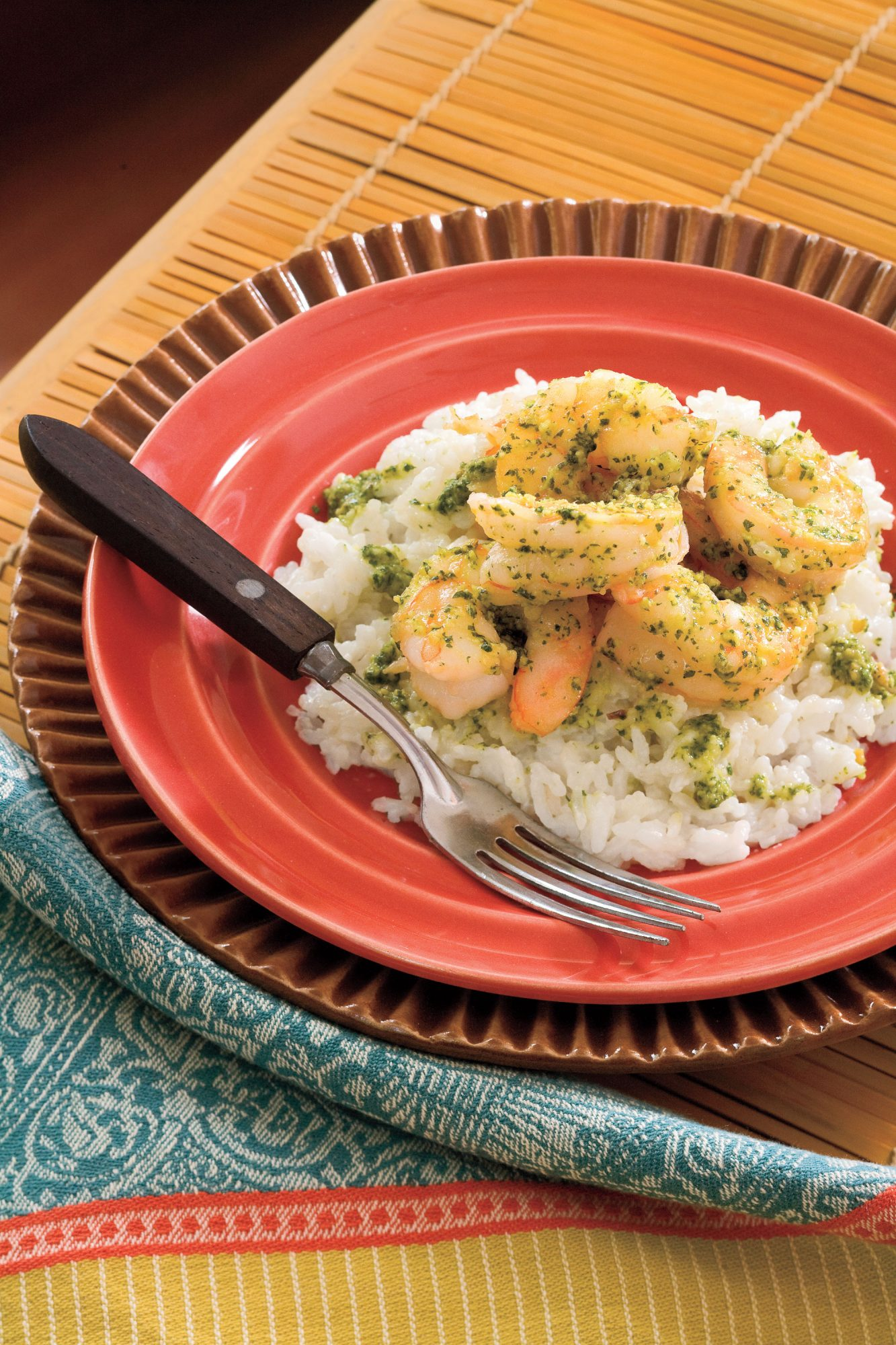 Thai Pesto Shrimp with Cilantro-Lime Rice