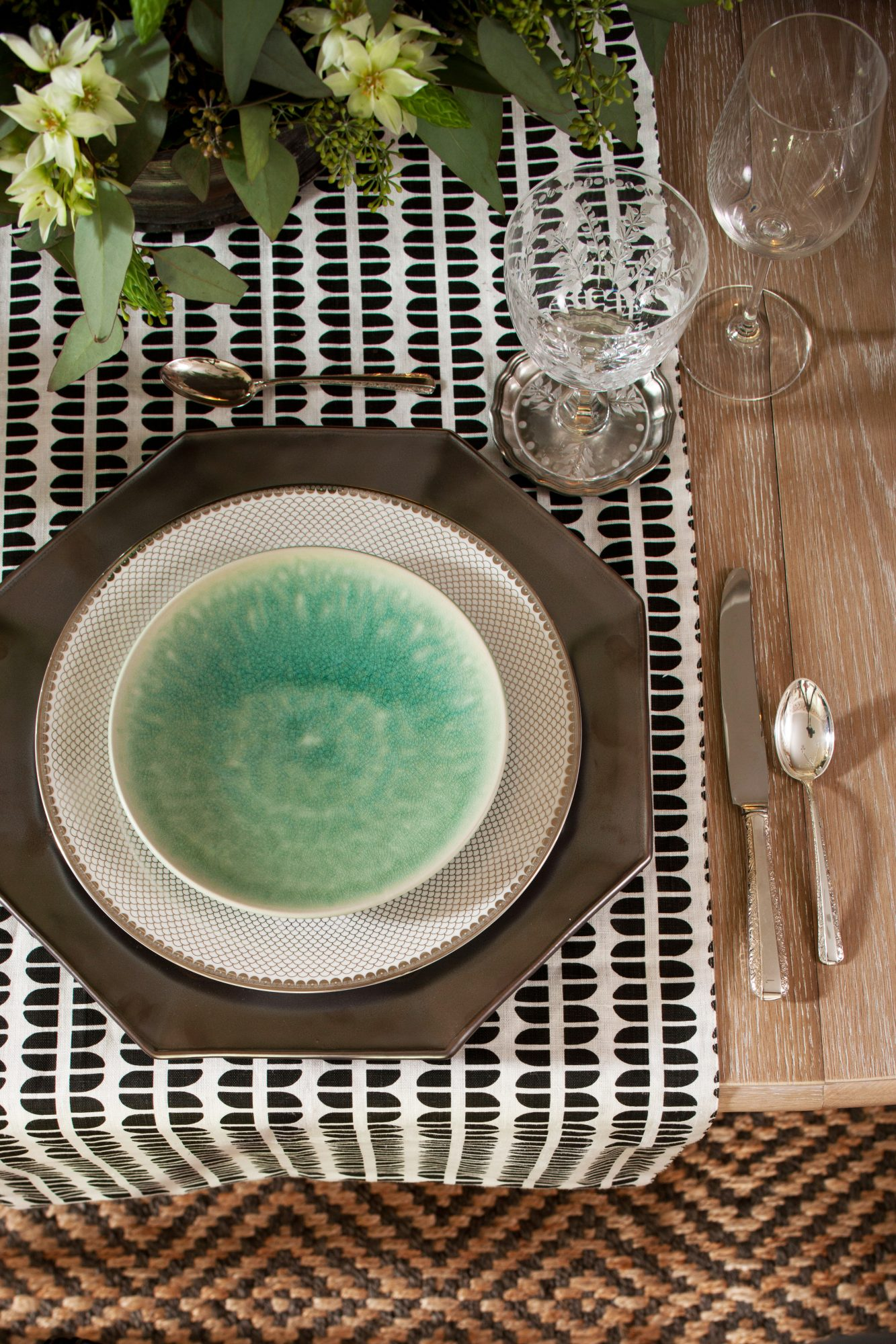 Green-Blue Salad Plates
