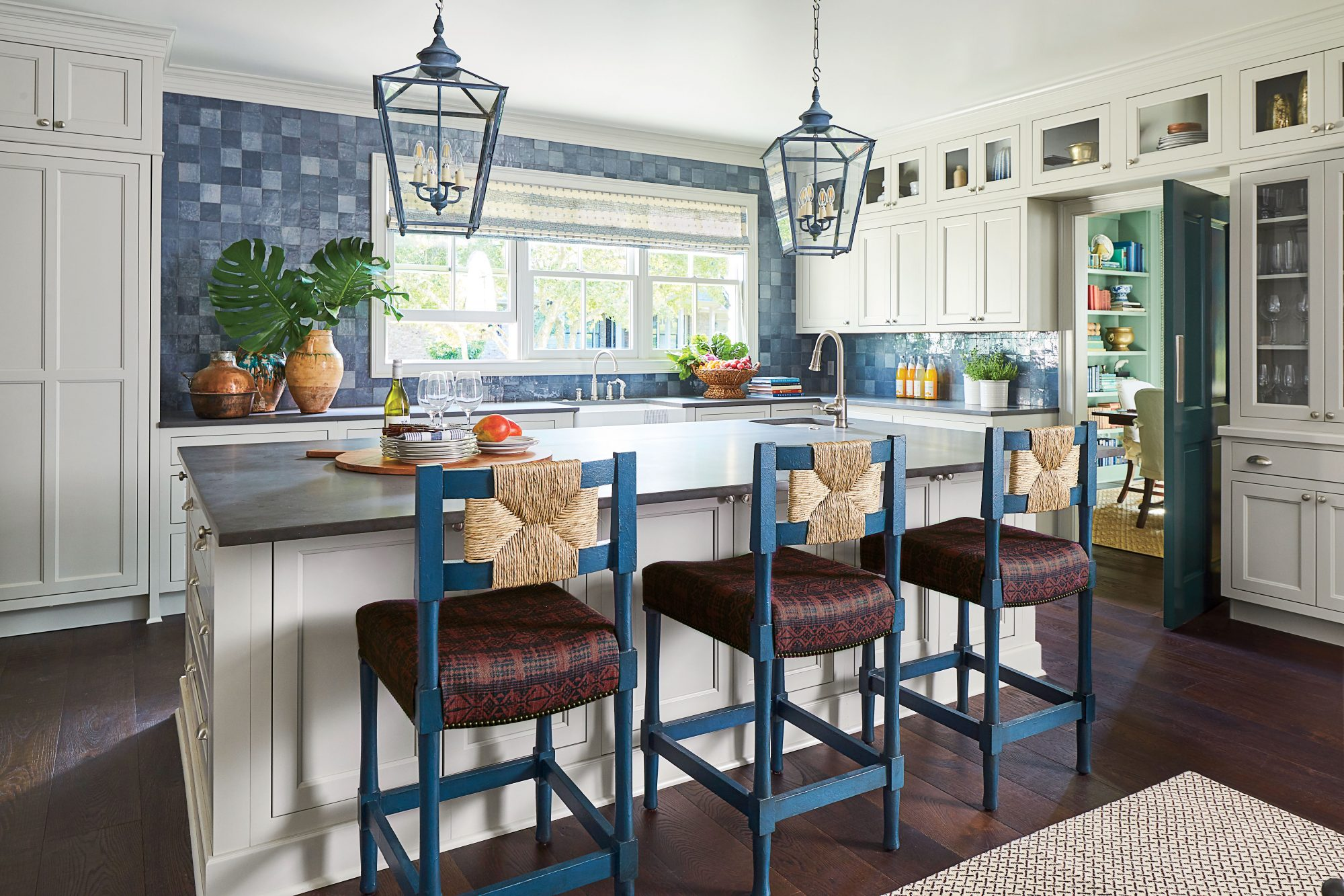 Coastal Blue Kitchen Lights