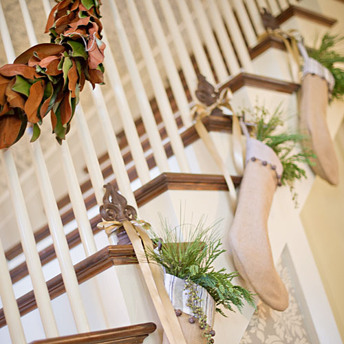 Stockings and Evergreen Garland
