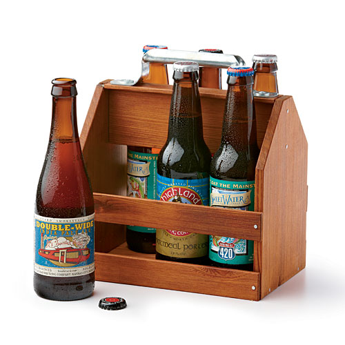 Wood Six-Pack Caddy