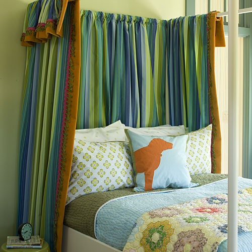Curtained Bed