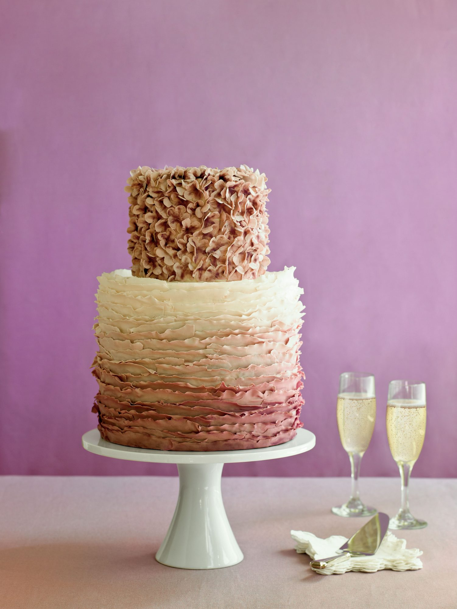 Ombre Effect Wedding Cake