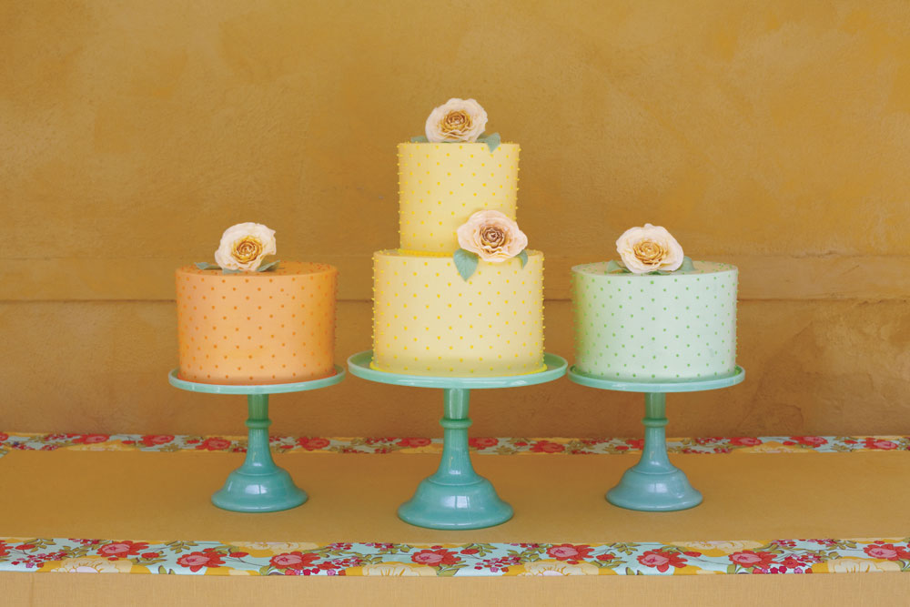 A Trio of Tropical Wedding Cakes