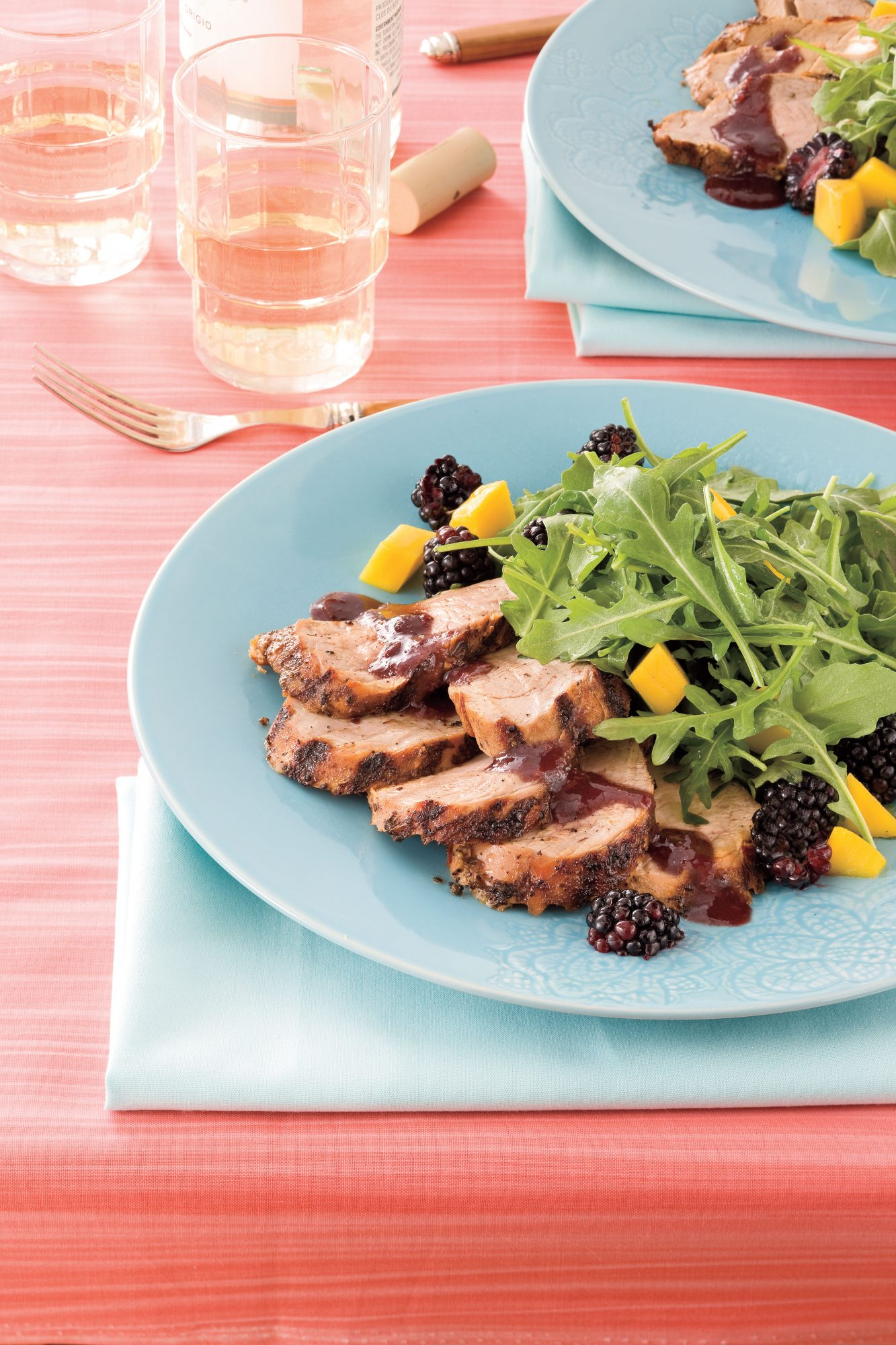 Recipes: Spicy Grilled Pork Tenderloin With Blackberry Sauce