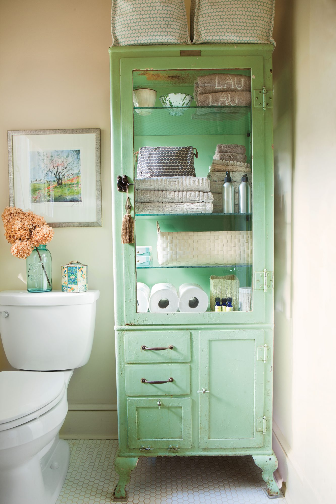 Organize with Vintage Pieces