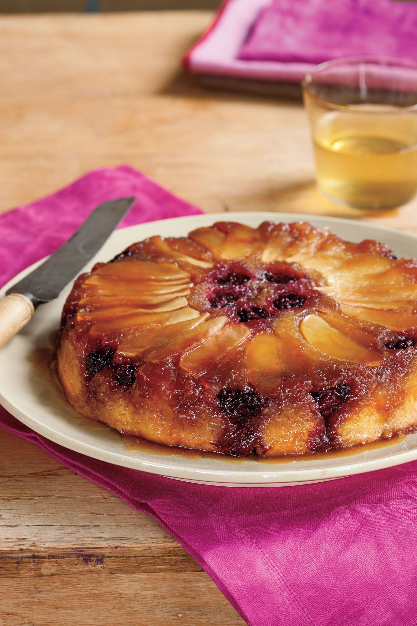 Blackberry-Apple Upside-Down Cake