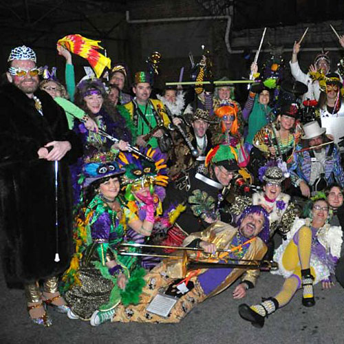 Mardi Gras with the Seed and Feed Marching Abominable!