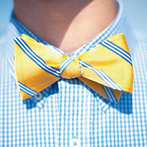 Yellow Spinnaker Bow Tie