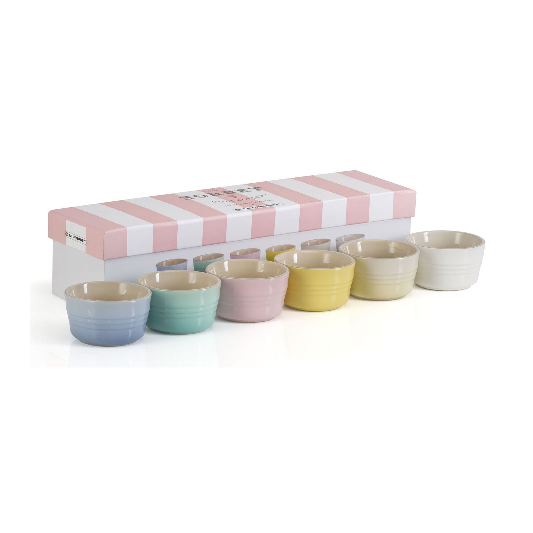 Le Creuset Sorbet Collection Set of 6 Mini Ramekins