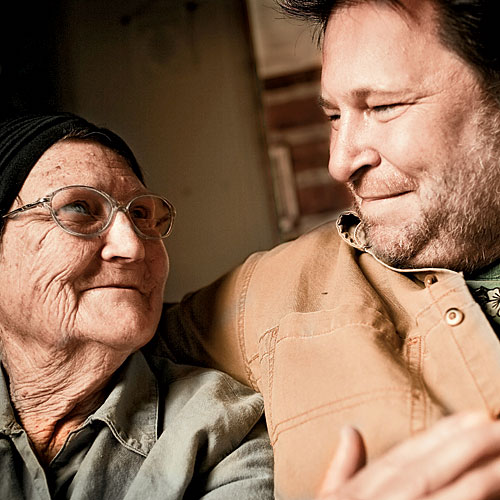 Rick Bragg with mother Margaret Bragg