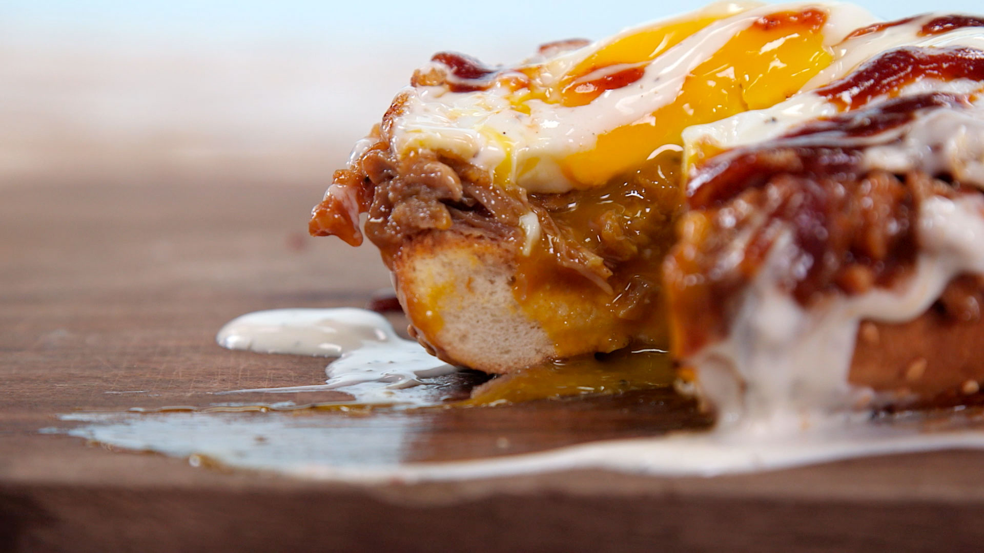 BBQ Bagel Breakfast Sandwich Still Image