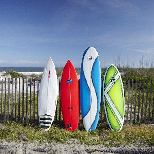 Surfboards in Folly Beach, SC