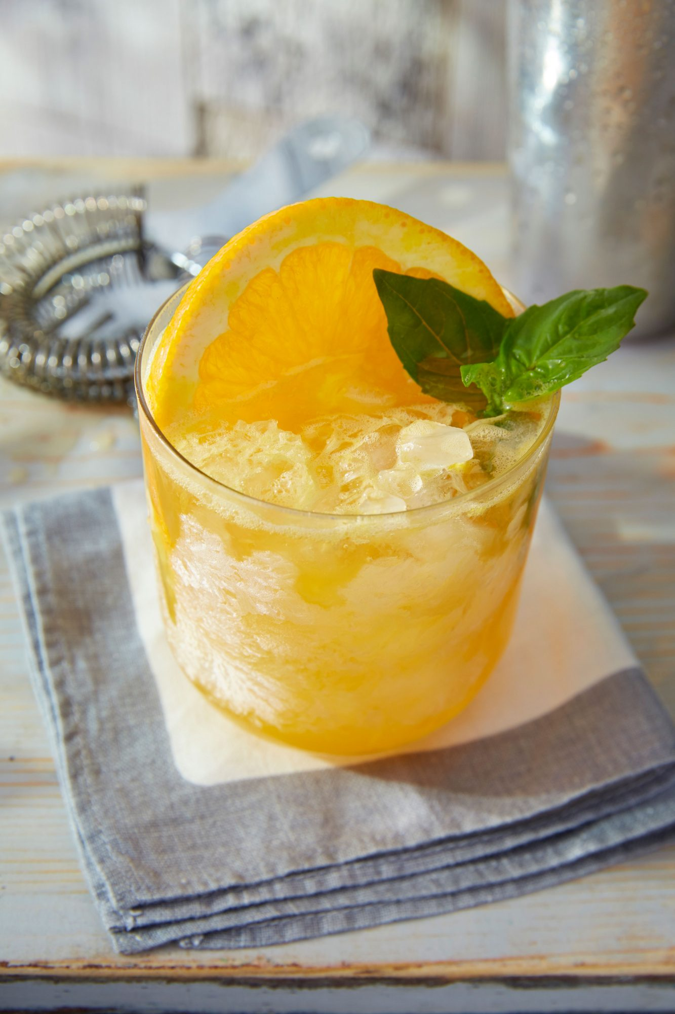 Basil Bourbon Orange Smash Recipe