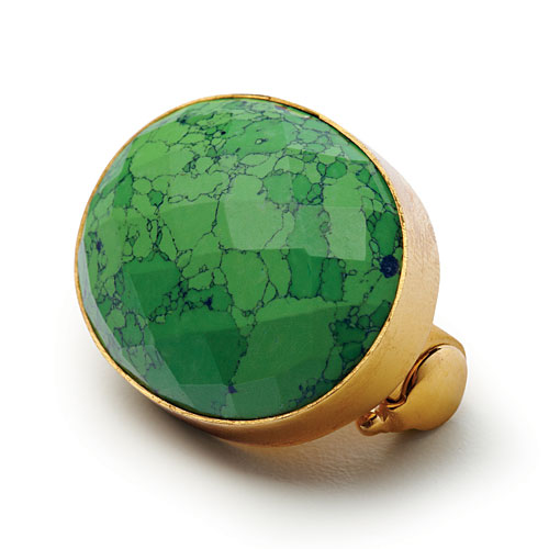 Green Turquoise Brooch
