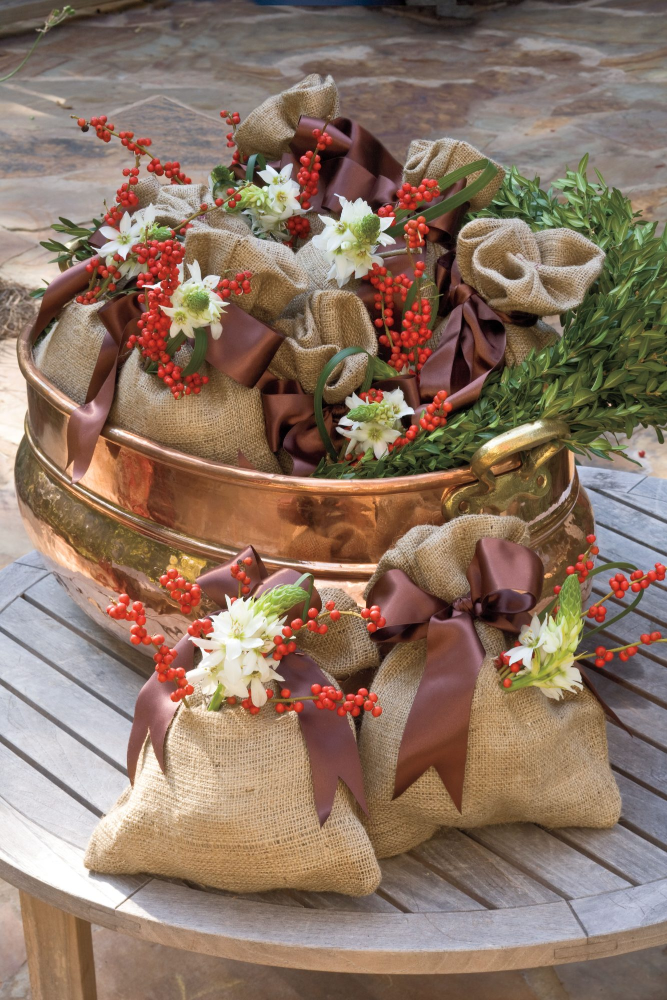 Wrap Gifts in Burlap