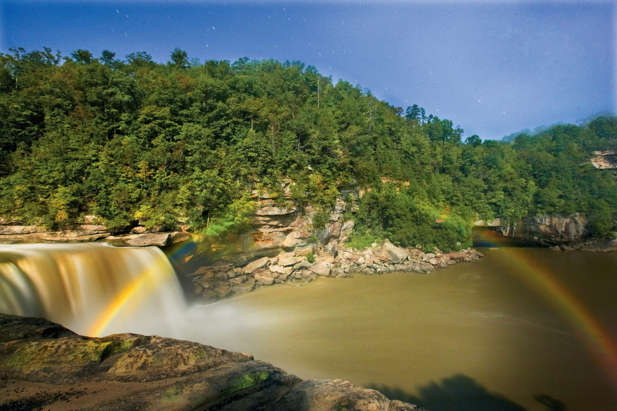 "Wow Factor: Cumberland Falls, aka the ""Niagara of the South,"" creates a rare moonbow when its spray catches the light of a full moon.You'll Love If: You always wondered about that pot of gold.Explore It:  Visit Cumberland Falls State Resort Park during"