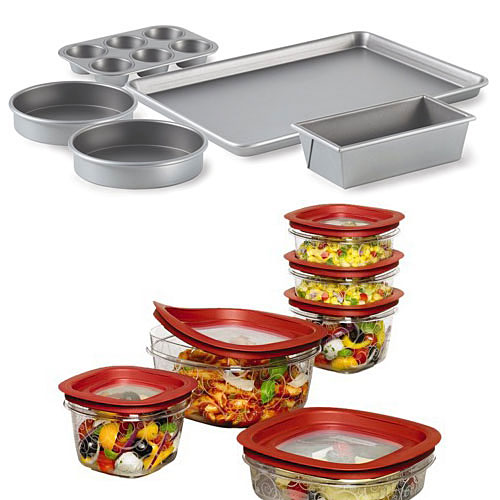 Calphalon Bakeware & Rubbermaid Storage Set