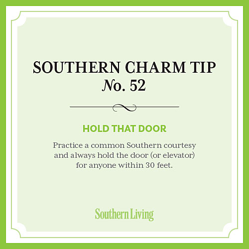 Tip #52: Hold that door