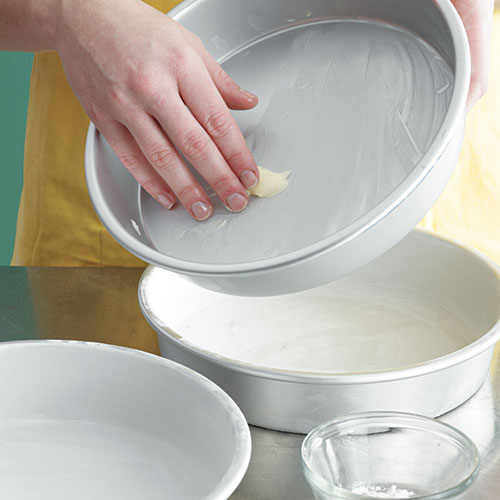 Step 6: Grease Cake Pans