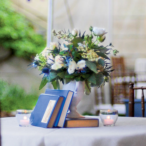 Distinctive Blue and White Centerpiece