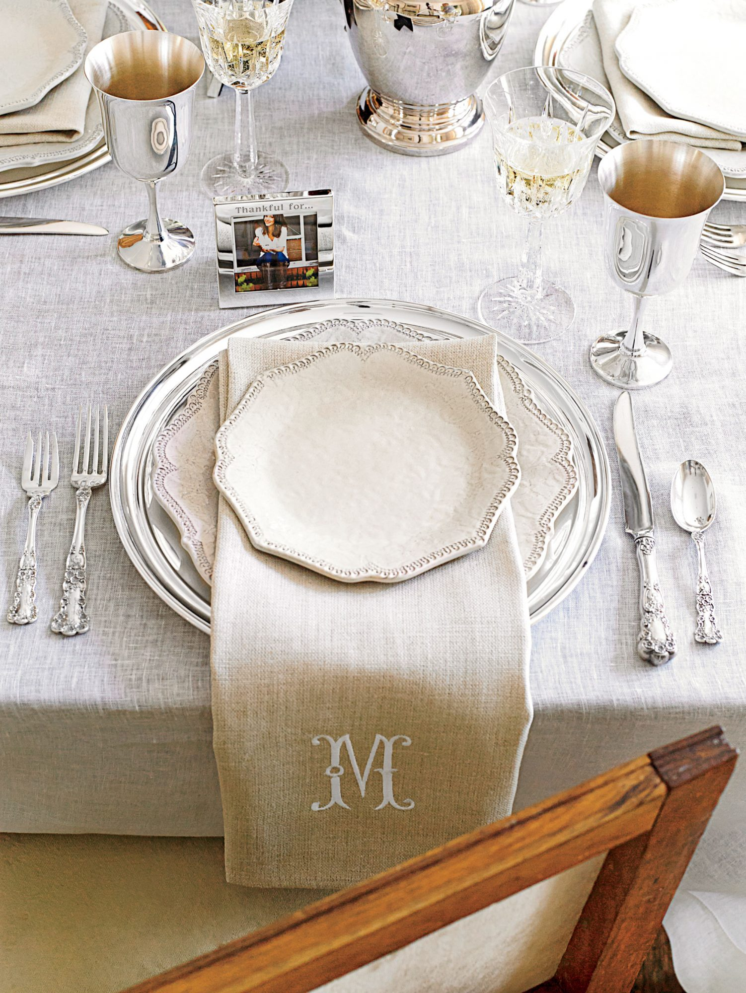 Tasia Malakasis Thanksgiving Table Place Setting