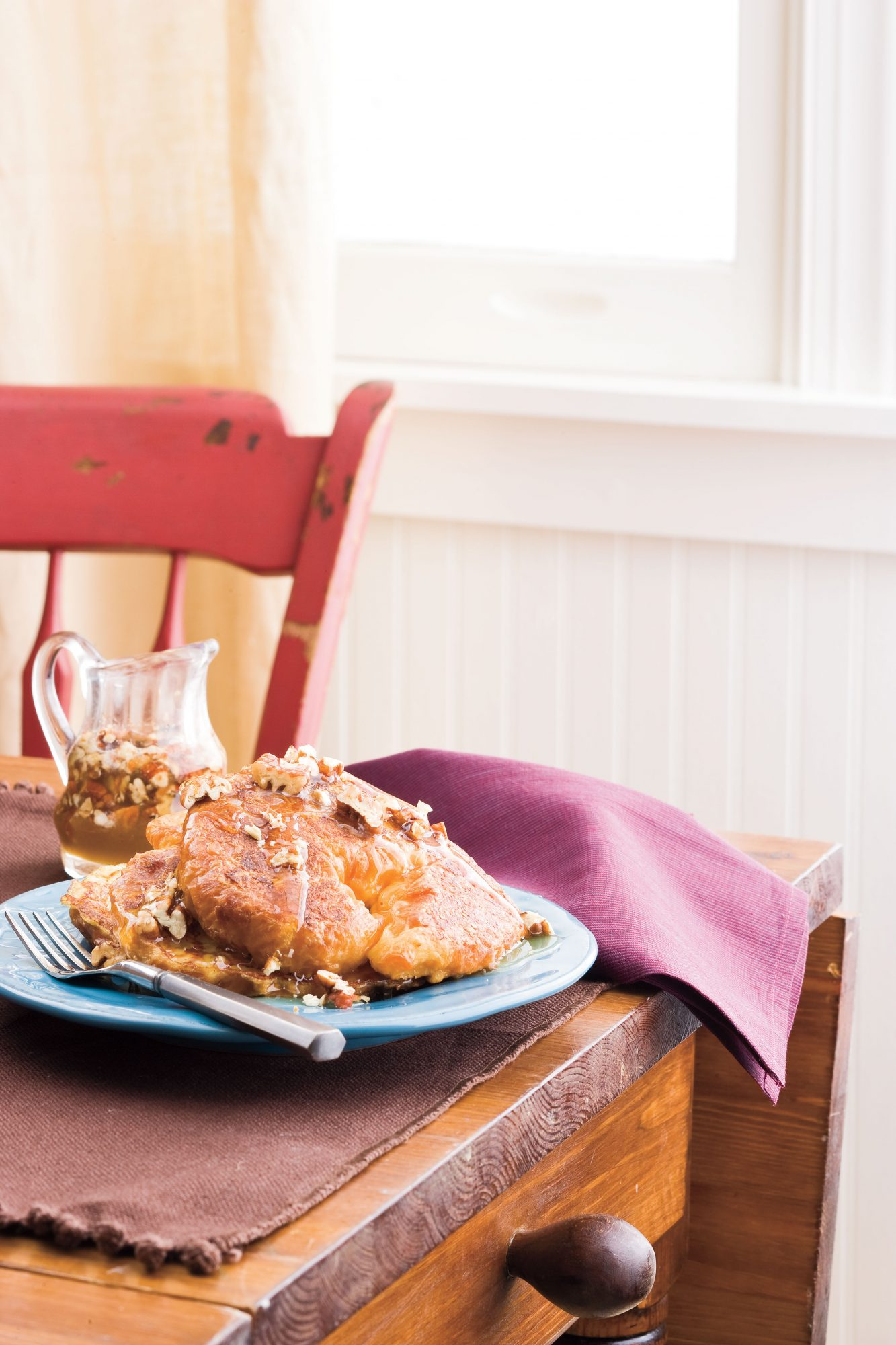 Croissant French Toast with Pecans