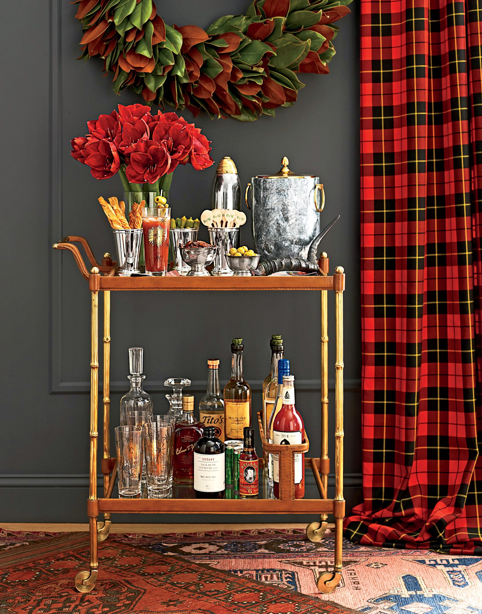 Festive Bar Cart Welcome