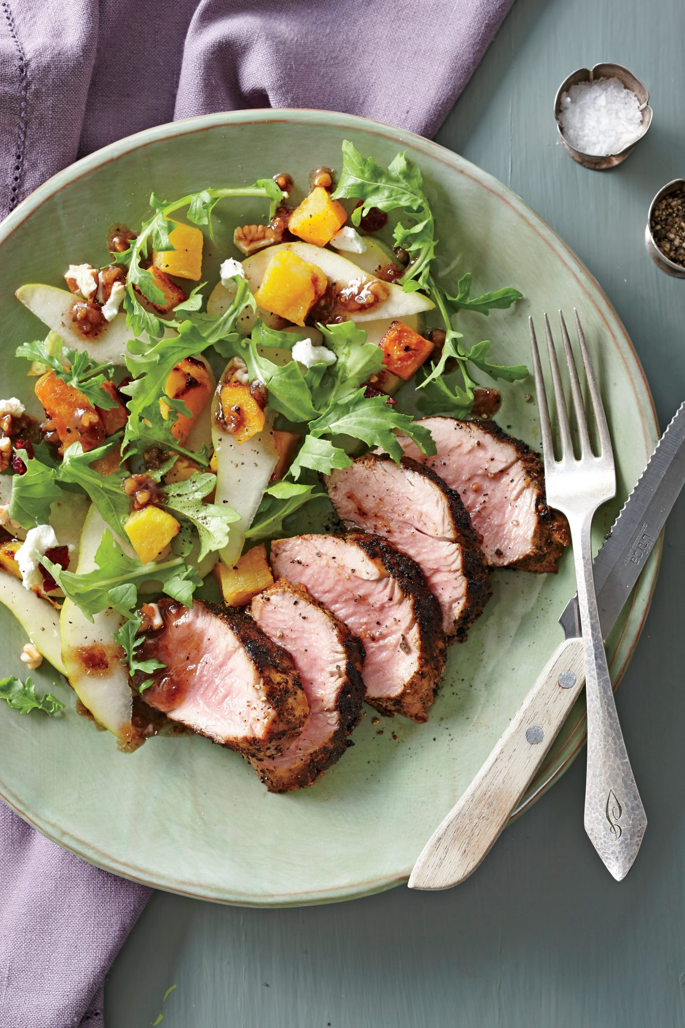 Spice-Rubbed Pork with Roasted Butternut Salad