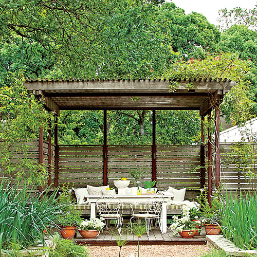 Welcoming Courtyard Arbor