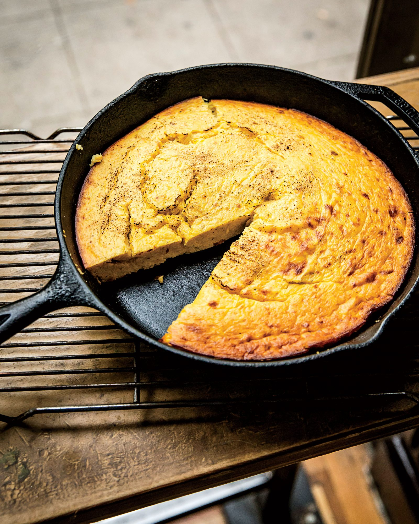 Buttermilk Spoonbread with Spaghetti Squash.
