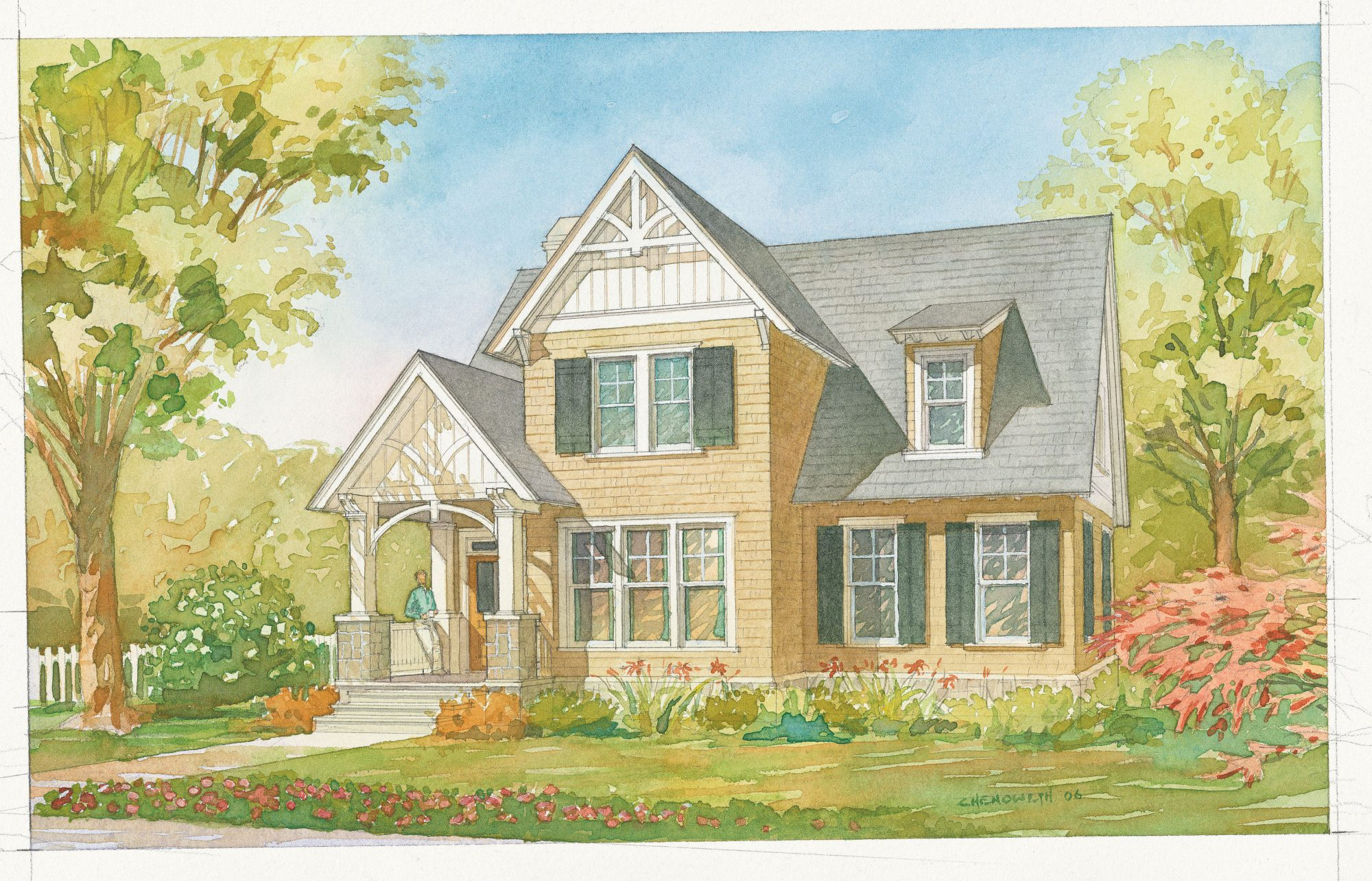 Ellsworth Cottage, Plan #1351