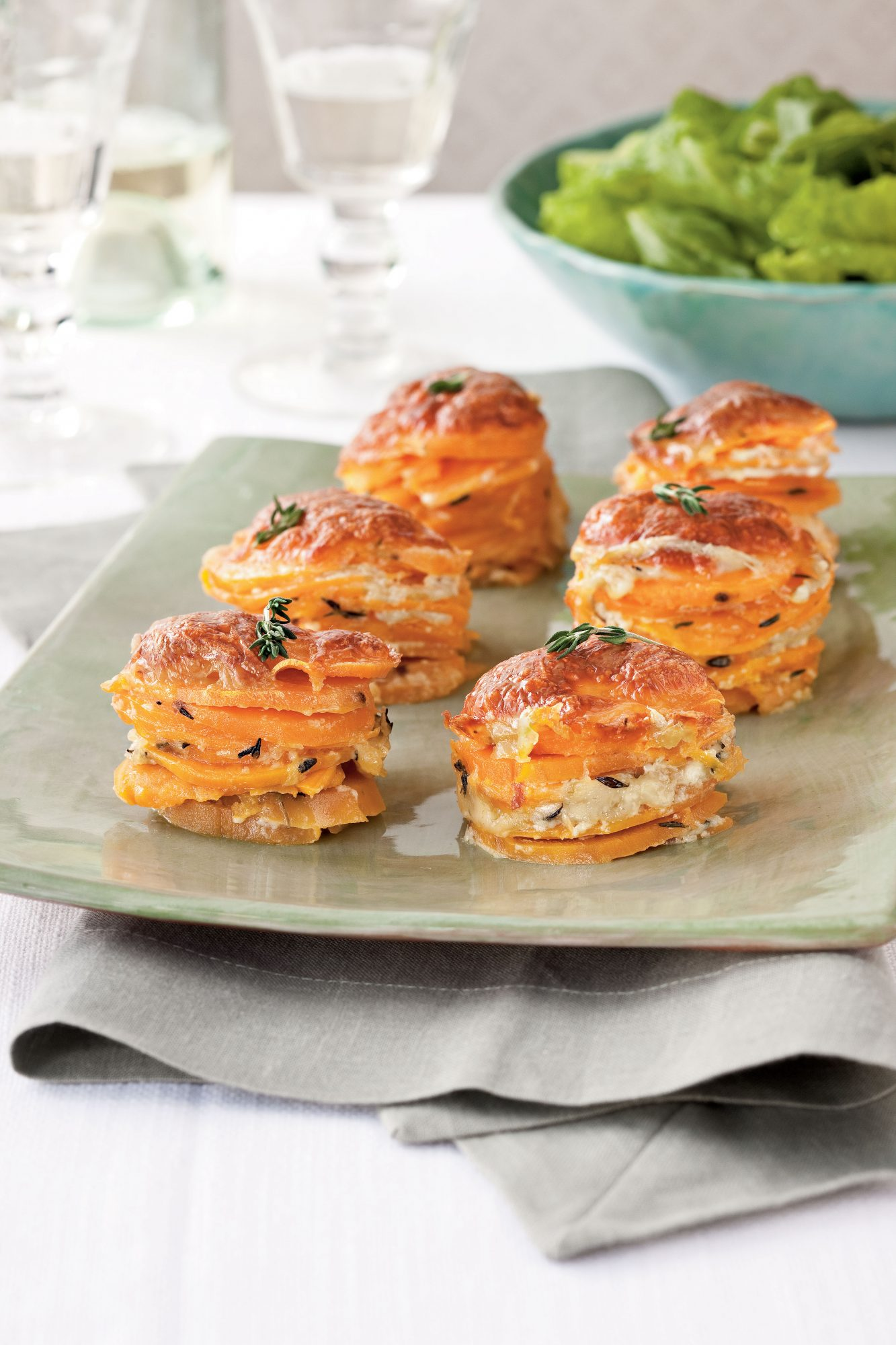Scalloped Sweet Potato Stacks
