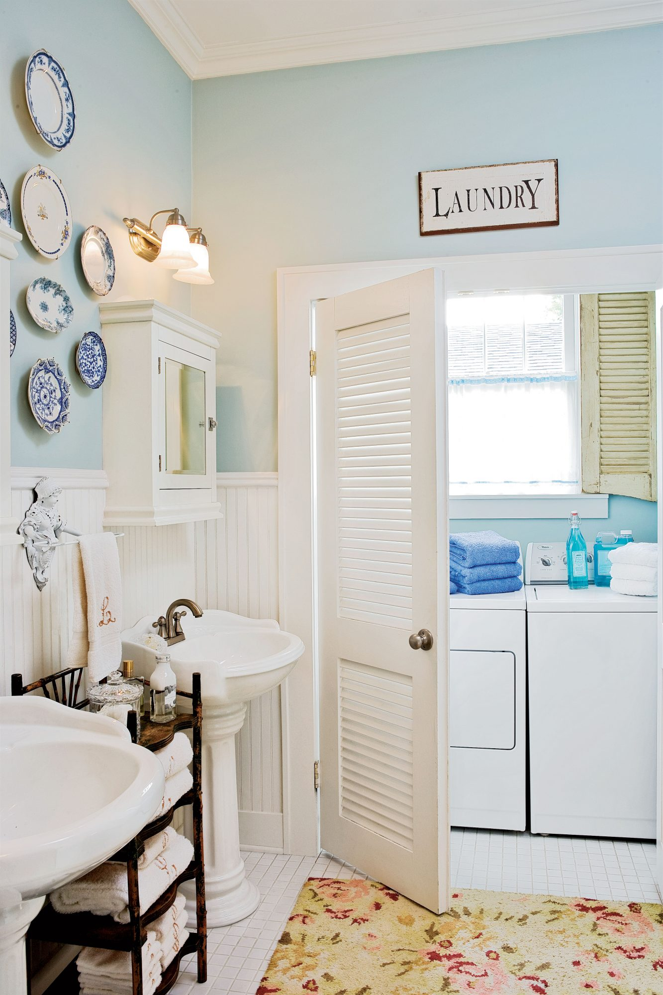 Camouflage a Laundry Room